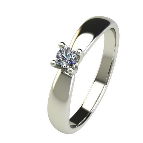Годежен Пръстен бяло злато с диамант Thin 0,12 ct. 2563