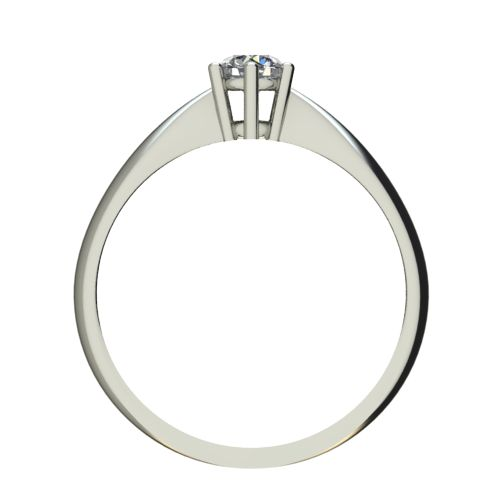 Годежен Пръстен бяло злато с диамант Thin 0,12 ct. 2567 b