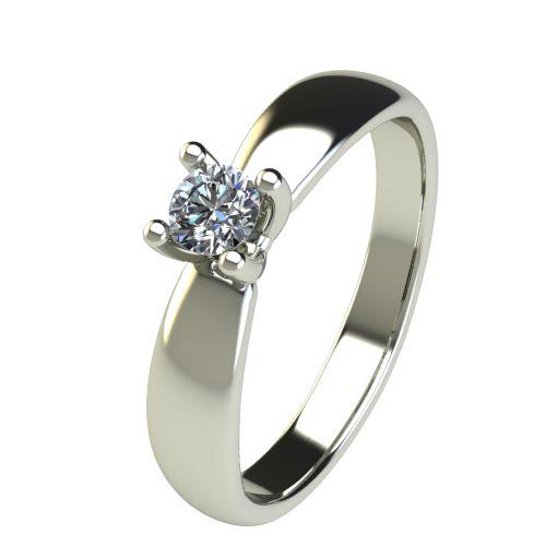 Годежен Пръстен бяло злато с диамант Thin 0,17 ct. 2564