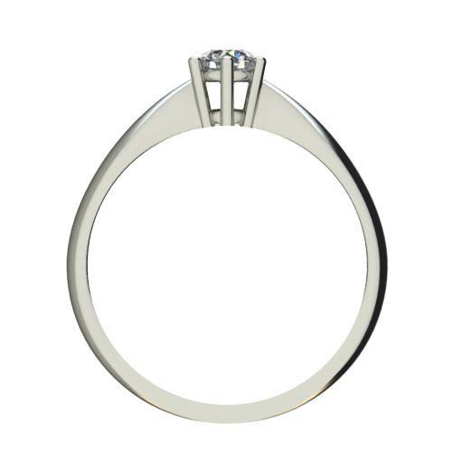 Годежен Пръстен бяло злато с диамант Thin 0,17 ct. 2568 b