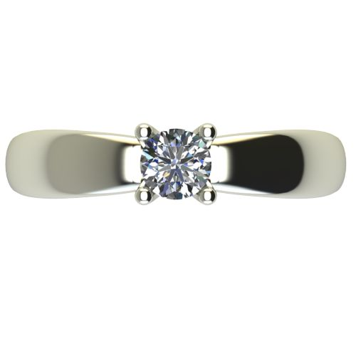 Годежен Пръстен бяло злато с диамант Thin 0,25 ct. 2565 a