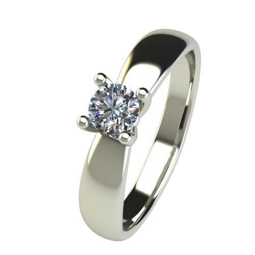 Годежен Пръстен бяло злато с диамант Thin 0,25 ct. 2565