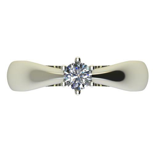 Годежен Пръстен бяло злато с диамант Thin 0,25 ct. 2569 a