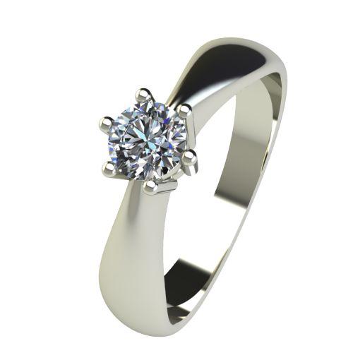 Годежен Пръстен бяло злато с диамант Thin 0,25 ct. 2569