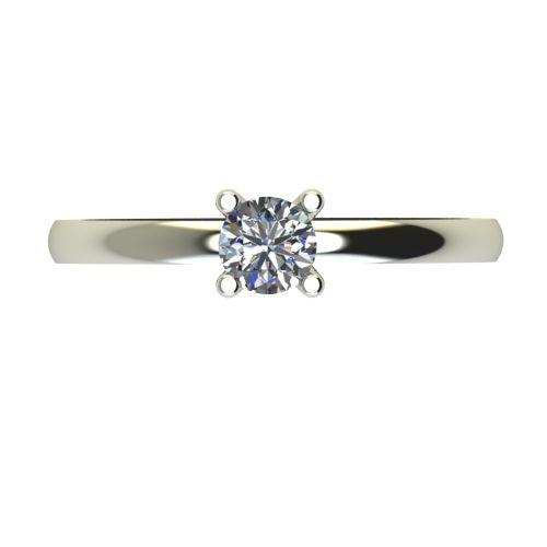 Годежен Пръстен бяло злато с диамант Cante 0,12 ct. 2576 a