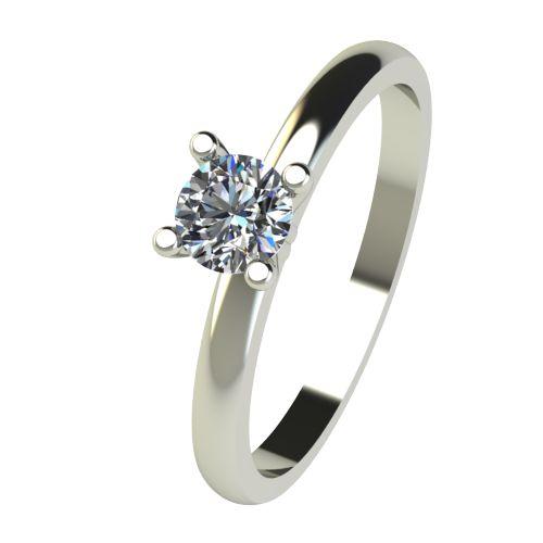 Годежен Пръстен бяло злато с диамант Cante 0,12 ct. 2576