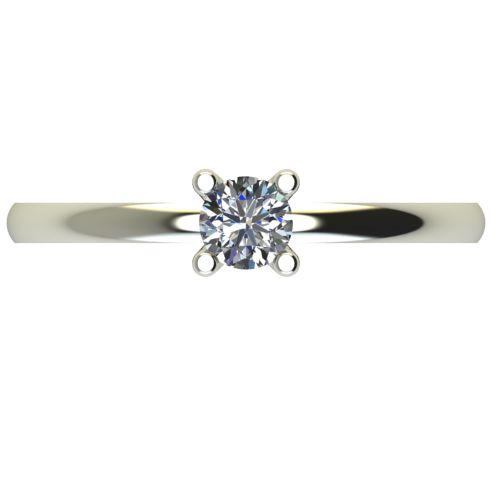 Годежен Пръстен бяло злато с диамант Cante 0,17 ct. 2577 a