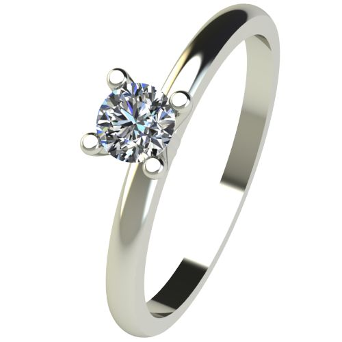 Годежен Пръстен бяло злато с диамант Cante 0,17 ct. 2577