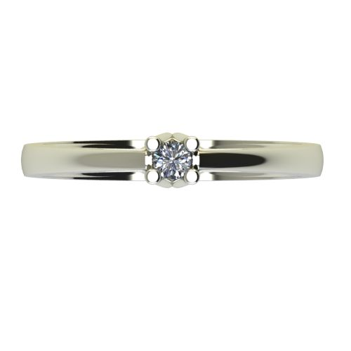 Годежен Пръстен бяло злато с диамант Ether 0,07 ct. 2582 a