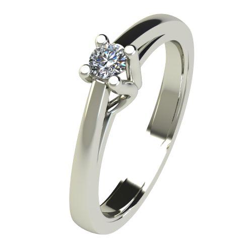 Годежен Пръстен бяло злато с диамант Ether 0,07 ct. 2582