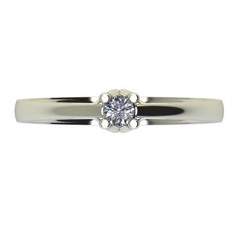 Годежен Пръстен бяло злато с диамант Ether 0,12 ct. 2583 a