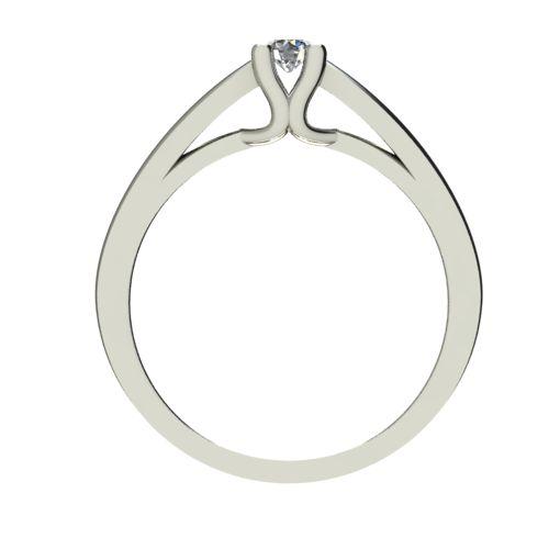 Годежен Пръстен бяло злато с диамант Ether 0,12 ct. 2583 b