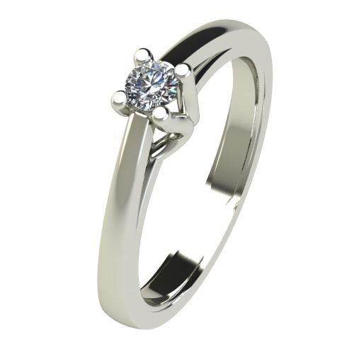 Годежен Пръстен бяло злато с диамант Ether 0,12 ct. 2583