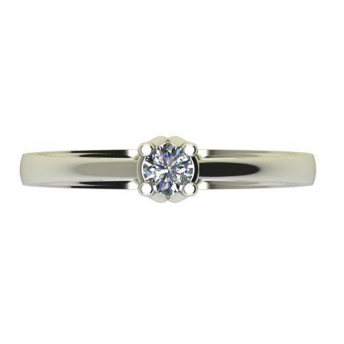 Годежен Пръстен бяло злато с диамант Ether 0,17 ct. 2584 a