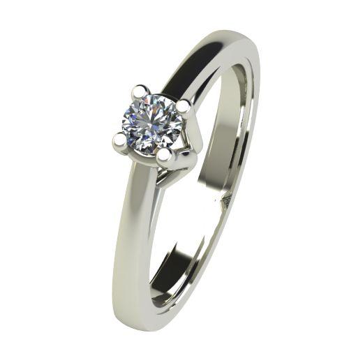 Годежен Пръстен бяло злато с диамант Ether 0,17 ct. 2584