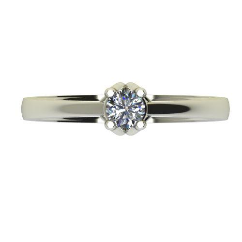 Годежен Пръстен бяло злато с диамант Ether 0,25 ct. 2585 a