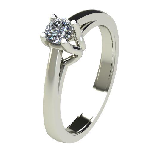 Годежен Пръстен бяло злато с диамант Ether 0,25 ct. 2585