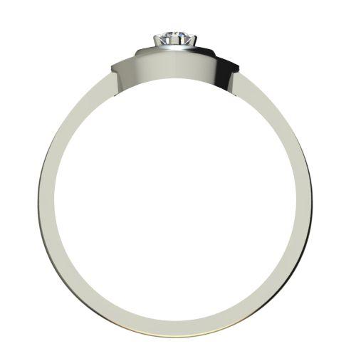 Годежен Пръстен бяло злато с диамант Heart 0,04 ct. 2579 b