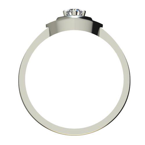 Годежен Пръстен бяло злато с диамант Heart 0,12 ct. 2581 b