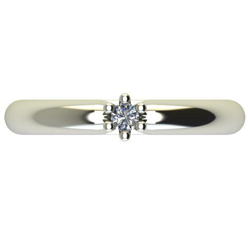 Годежен Пръстен бяло злато с диамант Impulse 0,04 ct. 2586 a