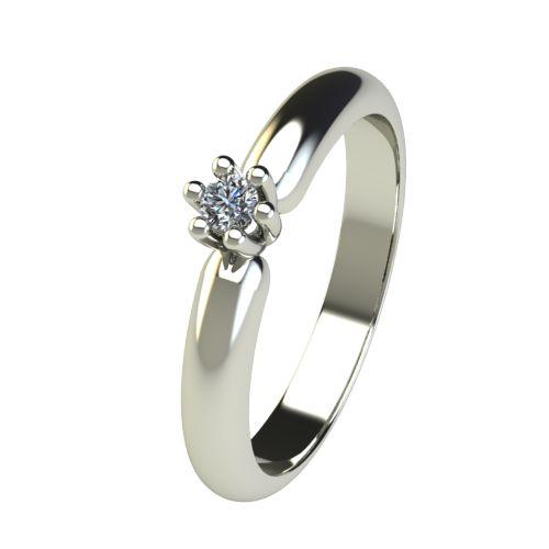 Годежен Пръстен бяло злато с диамант Impulse 0,04 ct. 2586