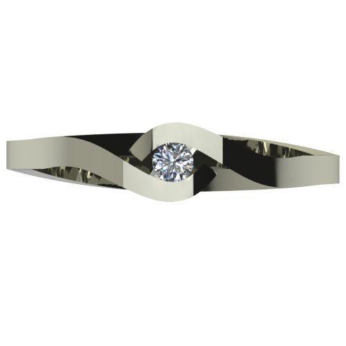 Годежен Пръстен бяло злато с диамант Accent 0,04 ct. 2610 a