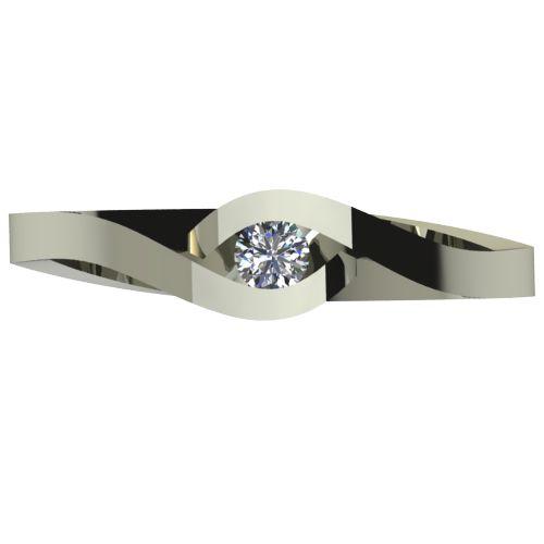 Годежен Пръстен бяло злато с диамант Accent 0,07 ct. 2611 a
