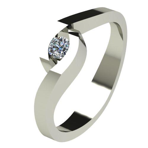 Годежен Пръстен бяло злато с диамант Accent 0,07 ct. 2611