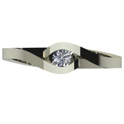 Годежен Пръстен бяло злато с диамант Accent 0,12 ct. 2612 a