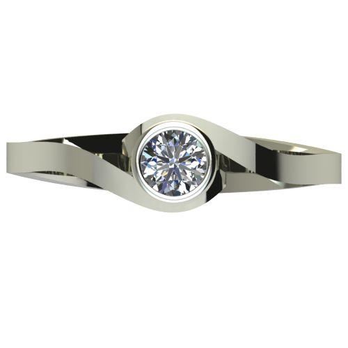 Годежен Пръстен бяло злато с диамант Accent 0,17 ct. 2608 a