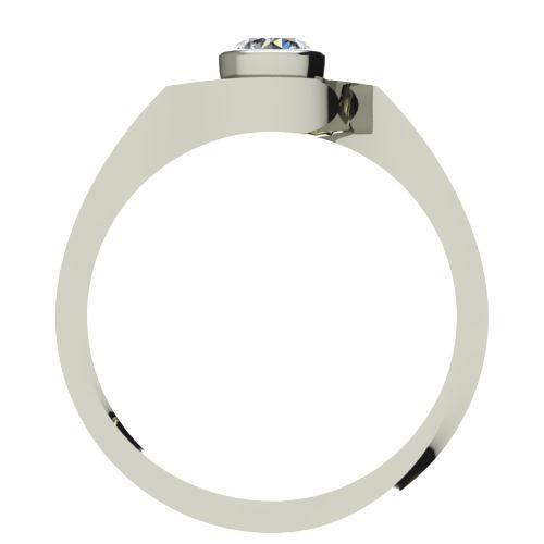 Годежен Пръстен бяло злато с диамант Accent 0,17 ct. 2608 b