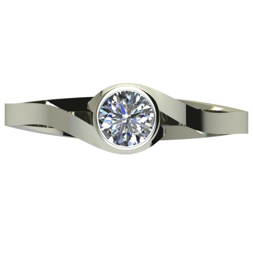 Годежен Пръстен бяло злато с диамант Accent 0,25 ct. 2609 a