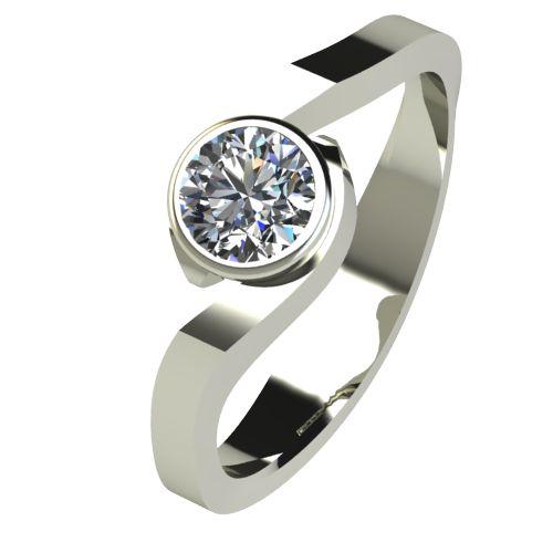 Годежен Пръстен бяло злато с диамант Accent 0,25 ct. 2609