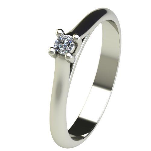 Годежен Пръстен бяло злато с диамант Ether 0,04 ct. 2599