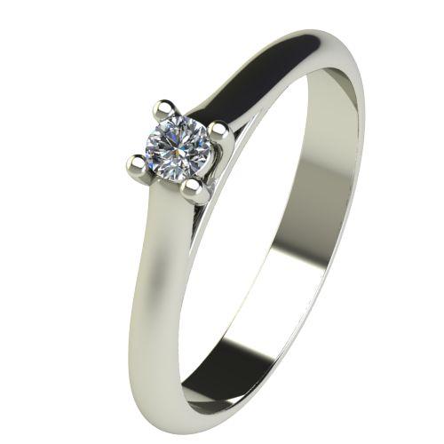 Годежен Пръстен бяло злато с диамант Ether 0,07 ct. 2600