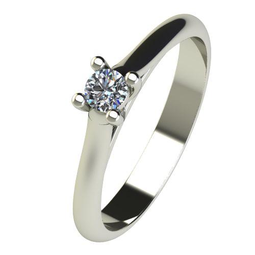 Годежен Пръстен бяло злато с диамант Ether 0,12 ct. 2601