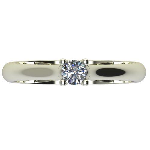 Годежен Пръстен бяло злато с диамант Ether 0,17 ct. 2602 a