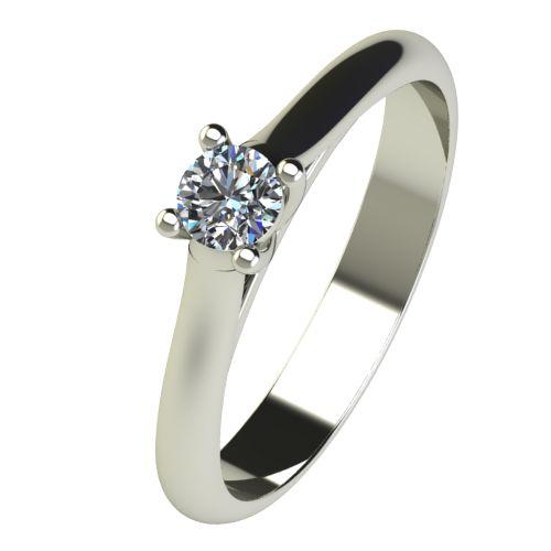 Годежен Пръстен бяло злато с диамант Ether 0,17 ct. 2602