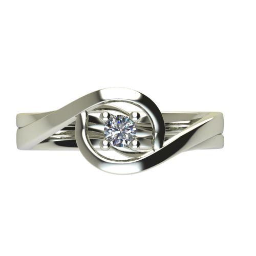 Годежен Пръстен бяло злато с диамант Forth 0,12 ct. 2594 a