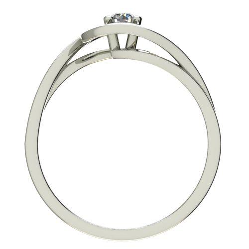 Годежен Пръстен бяло злато с диамант Forth 0,12 ct. 2594 b