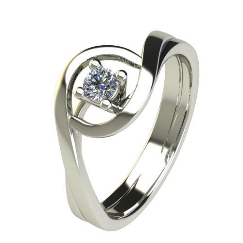 Годежен Пръстен бяло злато с диамант Forth 0,12 ct. 2594