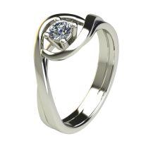 Годежен Пръстен бяло злато с диамант Forth 0,17 ct. 2595