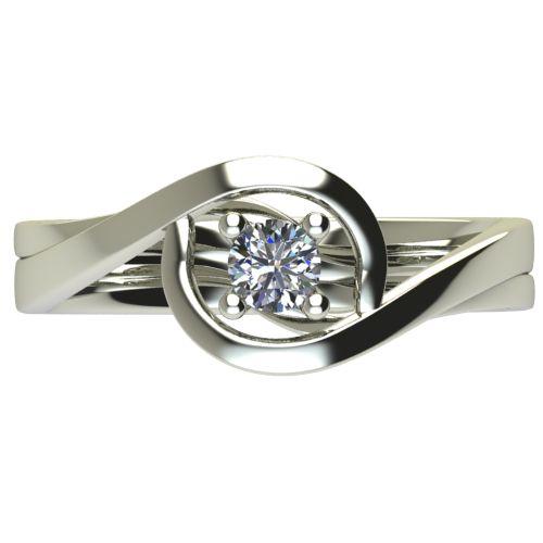 Годежен Пръстен бяло злато с диамант Forth 0,17 ct. 2595 a