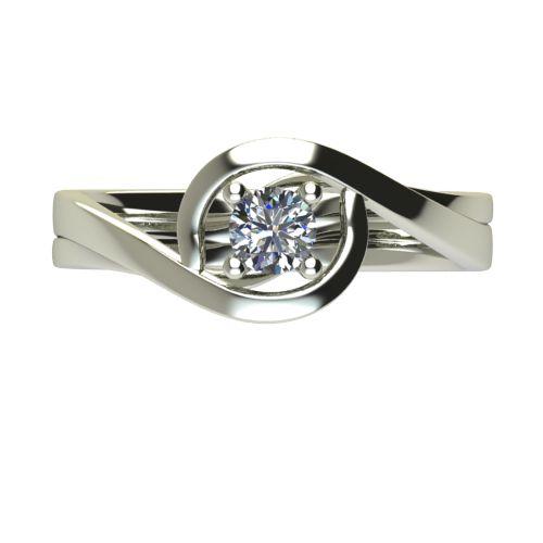Годежен Пръстен бяло злато с диамант Forth 0,25 ct. 2596 a
