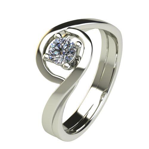 Годежен Пръстен бяло злато с диамант Forth 0,25 ct. 2596