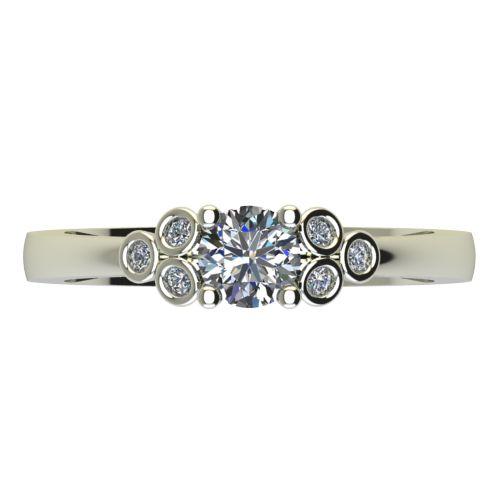 Годежен Пръстен бяло злато с диамант Grape 0,34 ct. 2604 a