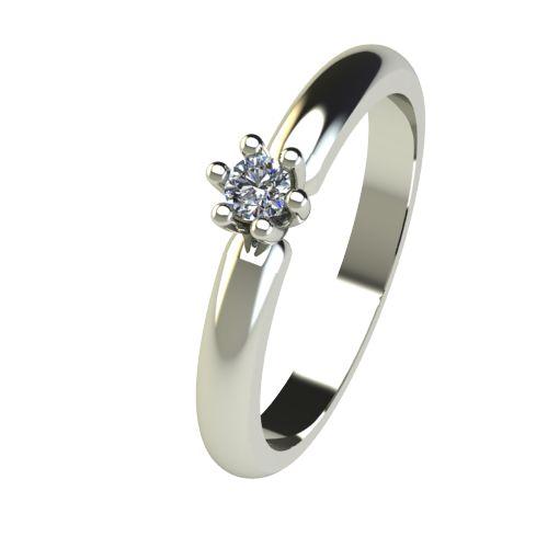 Годежен Пръстен бяло злато с диамант Impulse 0,07 ct. 2589