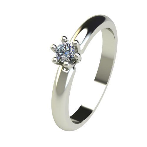 Годежен Пръстен бяло злато с диамант Impulse 0,12 ct. 2590