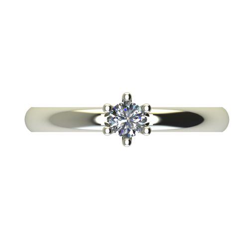 Годежен Пръстен бяло злато с диамант Impulse 0,17 ct. 2591 a
