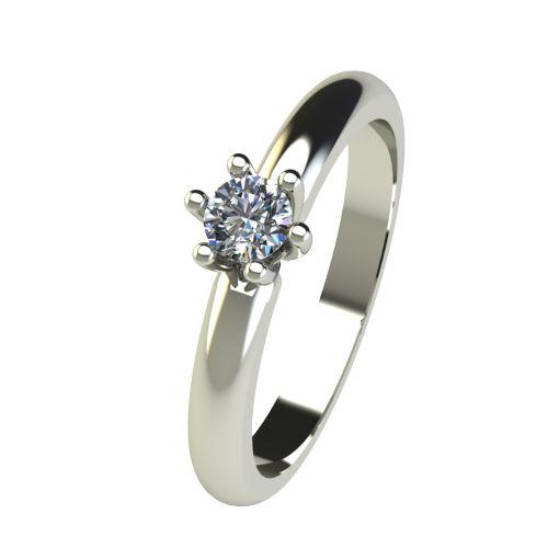 Годежен Пръстен бяло злато с диамант Impulse 0,17 ct. 2591